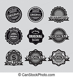 specials seals over gray background vector illustration