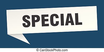 special speech bubble. special sign. special banner