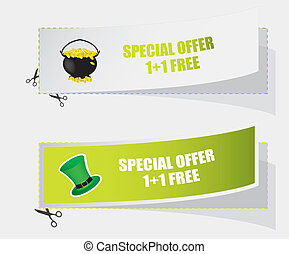 special St. Patrick's day labels