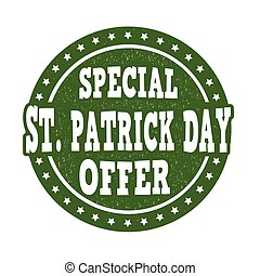 Special St. Patrick's Day offer stamp