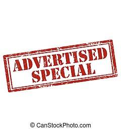 special-stamp, advertised