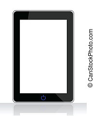 special tablet pc isolated on white background
