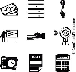 Special terminology icons set, simple style - Special...