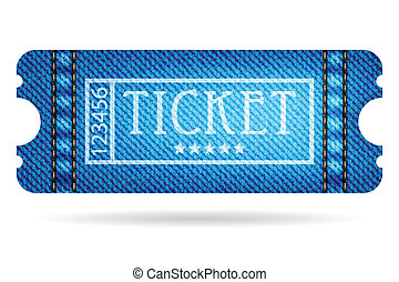 special ticket with jeans design