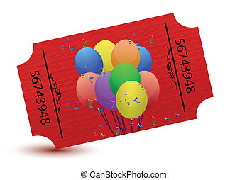 special tickets for a party illustration