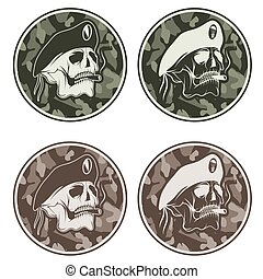 Special unit military patch - vector set. Special unit... vector ...