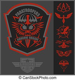 Special unit military emblem set vector design template.