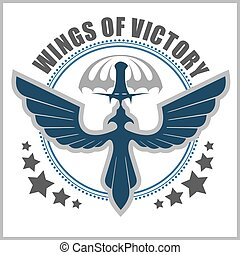Special unit military emblem vector design template.