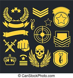 Special unit military patch - Special forces patch set -...
