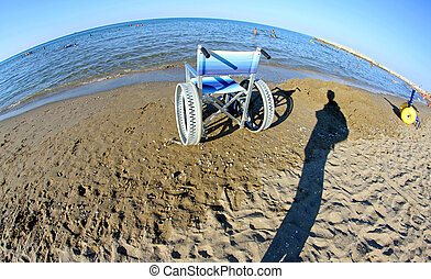 Special wheelchairs for disabled people with steel wheels -...