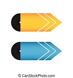 special yellow and blue arrow design, vector illustration, eps10