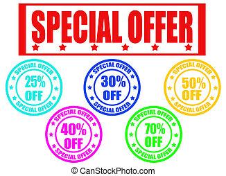 speciale, francobolli, offerta