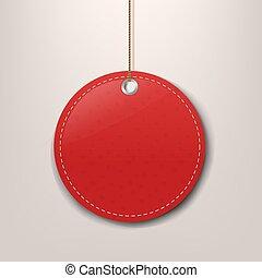 speciale, offerta, carta, etichetta, corda, rosso