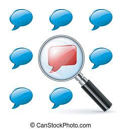 speciale, opinione, -, sociale, media, concetto
