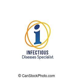 specialista, embléma, ragadós betegség