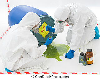 specialists at biohazard accident