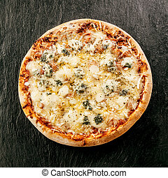 Speciality Italian food - Four Cheeses Pizza