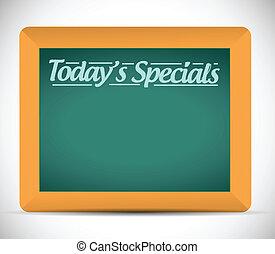 specials, écrit, todays, message