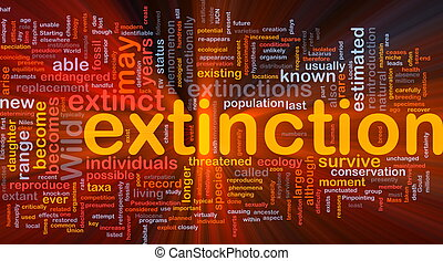 Species extintion background concept glowing - Background...