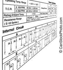 specificazione, concetto, bianco, circuito