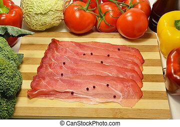 Speck, Italian smoked tasty ham