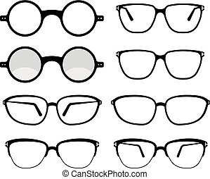 Spectacle Icon Set Symbol Vector Illustration