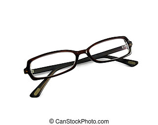 isolated fashionable spectacles over white background
