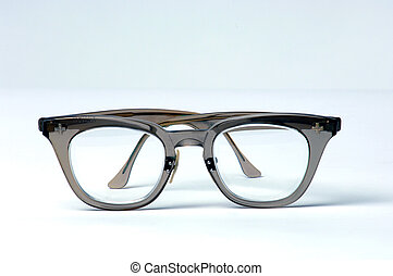 Isolated pair of eye glasses