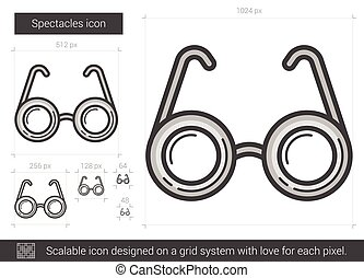 Spectacles line icon.