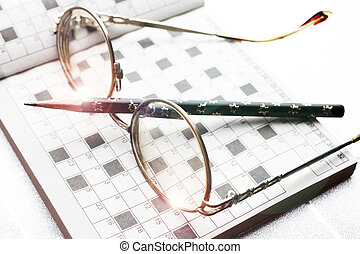 Spectacles, pencil, crossword as drill of the thinking and ...
