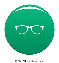 Spectacles with diopters icon green - Spectacles with ...