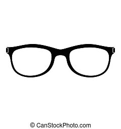 Spectacles with diopters icon, simple style. - Spectacles ...