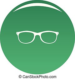 Spectacles with diopters icon vector green - Spectacles with...