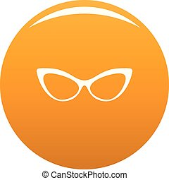 Spectacles without diopters icon vector orange - Spectacles ...