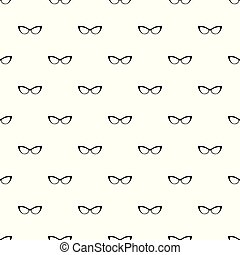 Spectacles without diopters pattern seamless vector repeat ...