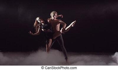 spectaculair, dans, tonen