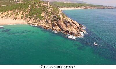 Spectacular Aerial Flight Over Beach