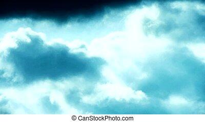 Spectacular clouds cover sky, Altocumulus, dusk.