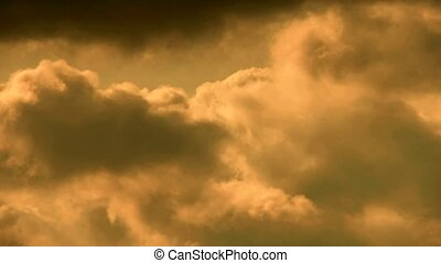Spectacular clouds cover sky