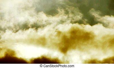 Spectacular clouds cover sky,Altocumulus,dusk,sandstorm.