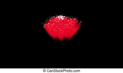 Spectacular Fireworks show, red linear fireworks, multiple lines Full HD Ver. 4