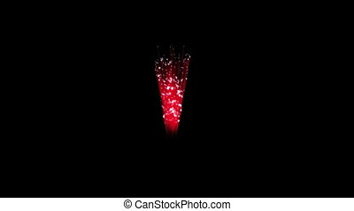 Spectacular Fireworks show, red linear fireworks, multiple lines. Full HD Ver. 31