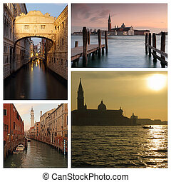 spectacular images of sunset time in Venice
