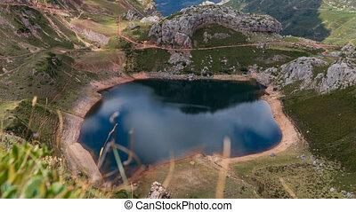 Spectacular lake reflection time lapse in Somiedo, Asturias, Spain