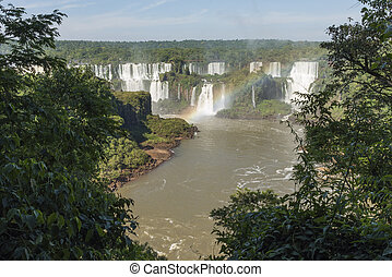 Spectacular landscape, view of the Iguazu Falls
