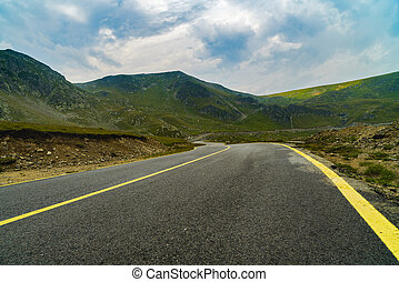 Spectacular road on the mountain in the Carpathian Mountains in Romania