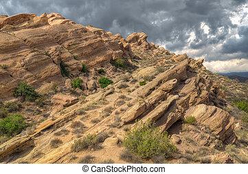 Spectacular Rock Formation at Vazquez Rocks - Spectacular...