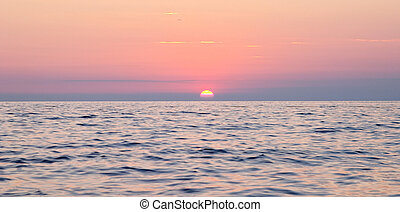 sea sunset - Spectacular sea sunset from the beach of the...