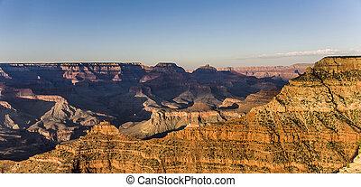 spectacular sunset at Grand canyon in Arizona