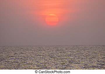 sunset over the ocean at Mumbai